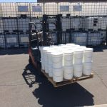 A half pallet of the Silox about to me loaded on a trailer for delivery to Tucson from the factory in Phoenix where it is made.